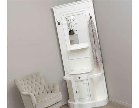 meuble d entree avec miroir grand meuble entr 233 e blanc en bois avec miroir et placard