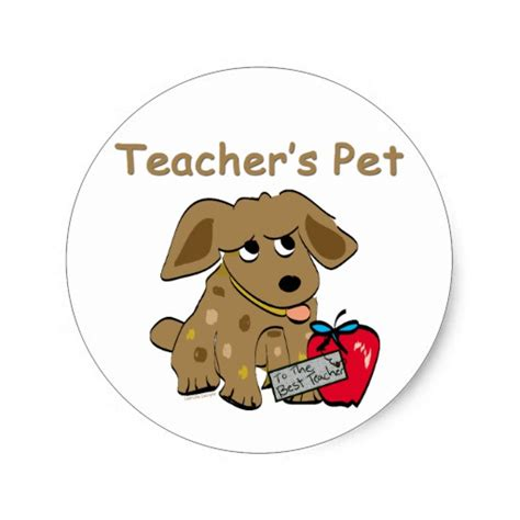 Teacher's Pet Classic Round Sticker Zazzle