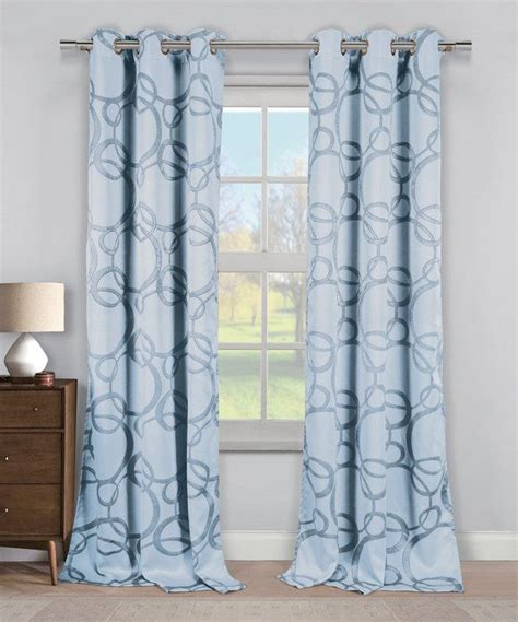 slate blue fairbanks circle blackout curtain panel set