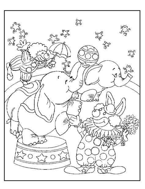 circus coloring page coloring home