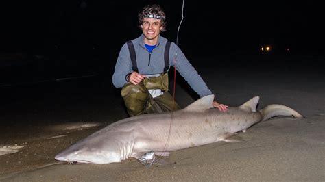 outer banks shark fishing   surfdavis island