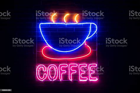 Coffee icon coffee art neon signs quotes text icons glitter images neon words coffee shop design aesthetic words pitaya. Neon Coffee Shop Sign Stock Photo - Download Image Now - iStock