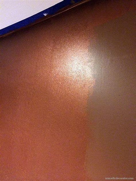 shimmery metallic copper wall  modern masters