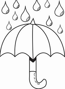 Umbrella Day Coloring Pages : Umbrella With Raindrops ...