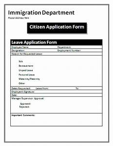 Application form application form citizen for Documents for apply citizenship