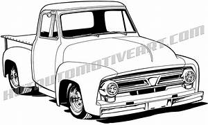 1956 ford pickup truck clip art buy two images get one With 1956 ford f100 4x4