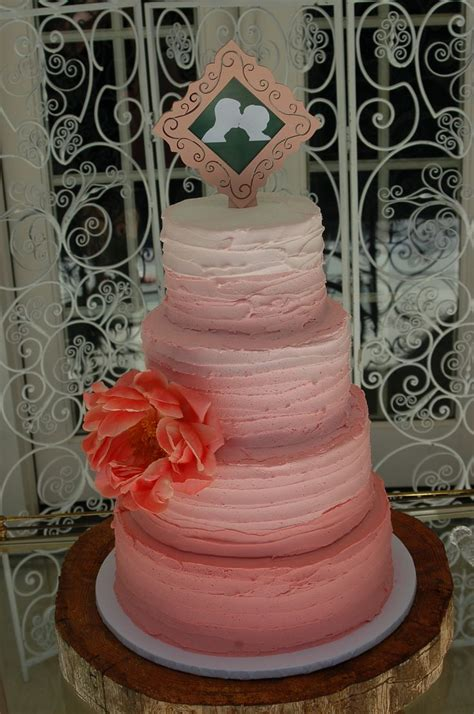 Pink Ombre Wedding Cake By Cake Is The Best Part Redding