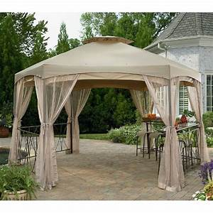 Garden Winds Clayton Hexagon Gazebo Replacement Canopy ...