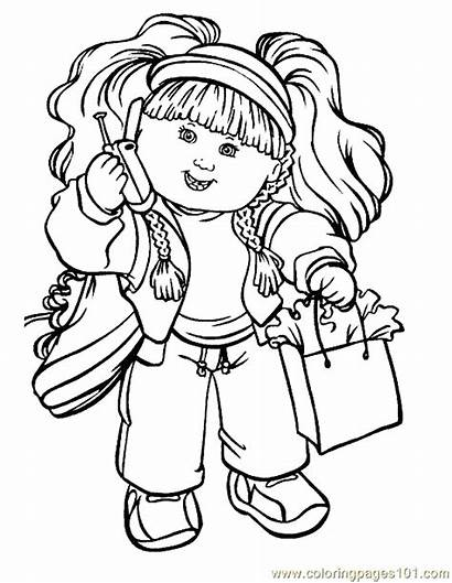 Coloring Pages Cabbage Patch Colouring Cartoon Sheets