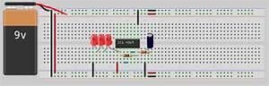 Cd4049 Based Led Torch Circuit Diagram