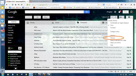 How To Change Your Gmail Background Change Gmail Account Background Picture