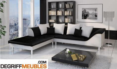 canape d angle noir et blanc photos canapé d 39 angle cuir blanc et noir