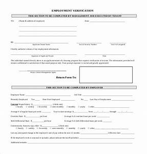 11 sample employment verification forms sample forms With documents verification job