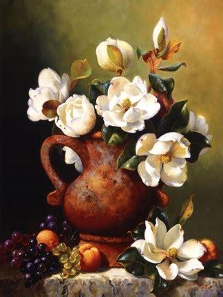 magnolias  terra cotta fine art print  fran  giacomo