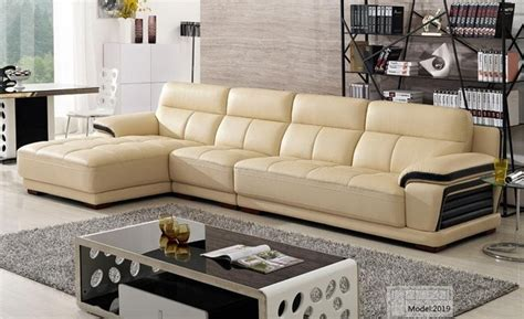 shipping european modern leather sectional sofa