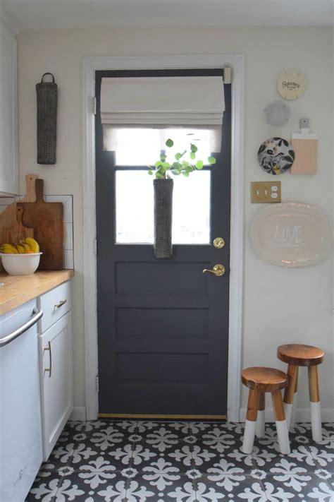 Kitchen Doors Interior gray paint change up on our interior kitchen door