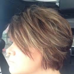Short Brown Hair with Chunky Blonde Highlights