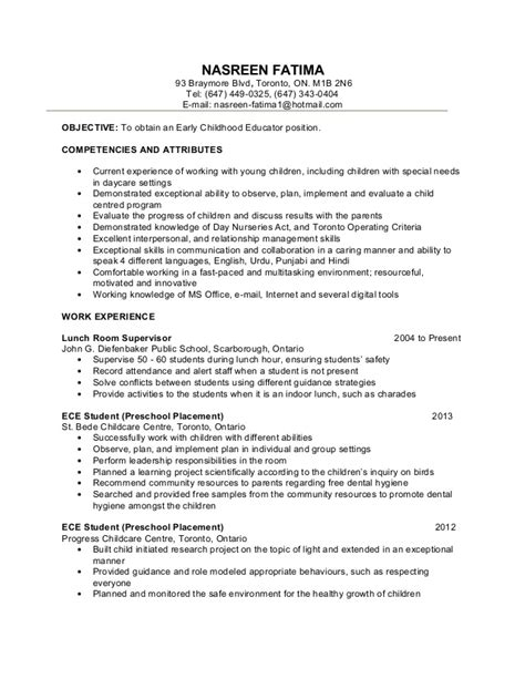 ece resume sample early childhood education resume samples sample resumes