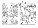 Happy Behind Trails Coloring Scenes Digital Irunfar sketch template