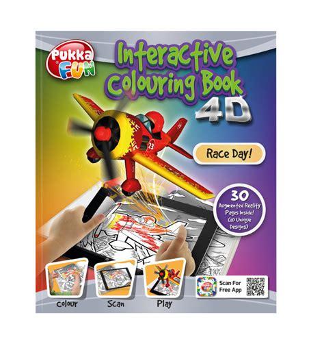 pukka fun  augmented reality interactive colouring book race day ebuyer