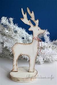 Basteln Holz Weihnachten Kostenlos : bastelidee f r weihnachten winterliche holzdekoration ~ Lizthompson.info Haus und Dekorationen
