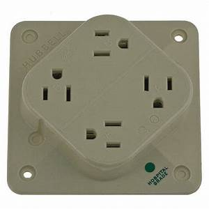 Hubbell Wiring Devi Polycarbonate Receptacle Quad 15a 5
