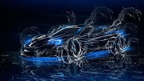 3d Wallpapers Water by Mclaren P1 3d Water Splashes Car 2017 El Tony