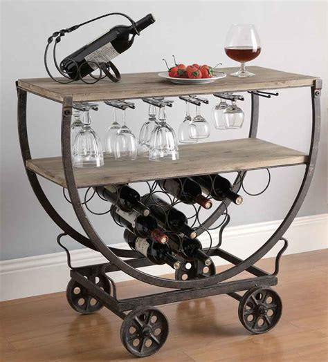 bar cart with wine rack wine rack cart bar serving carts
