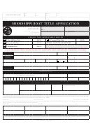 Ms Dept Wildlife Fisheries Boat Registration by Mississippi Motor Title Application Printable Pdf