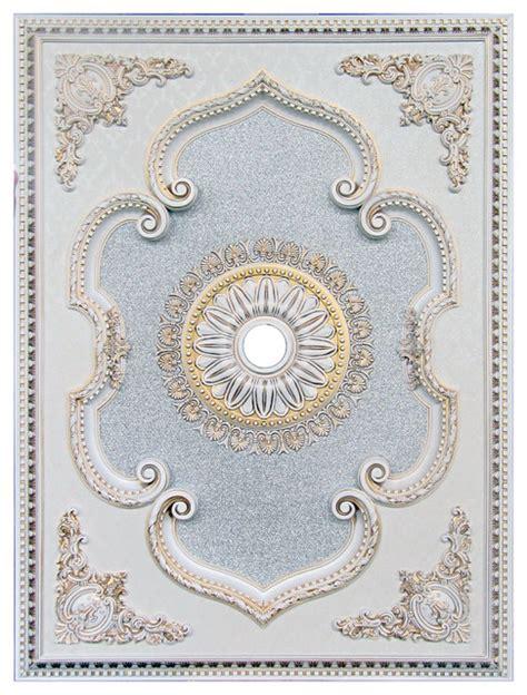 ceiling medallion rectangular collection antique white