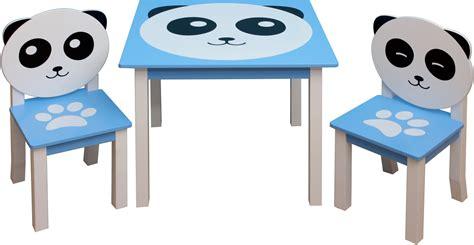 ensemble table et chaises enfant panda avec coffre 224