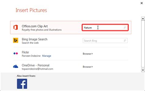 How To Insert Clipart In Powerpoint 2013 Insert Picture From The Office Clipart Collection In