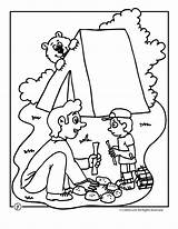 Camping Coloring Bear Pages Camp Summer Preschool Activities Sheets Crafts Fun Printables Theme Printable Woojr Worksheets Bears Camps Travel Colors sketch template