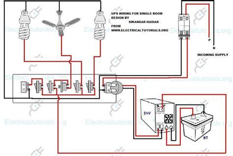ups wiring inverter wiring diagram for single room
