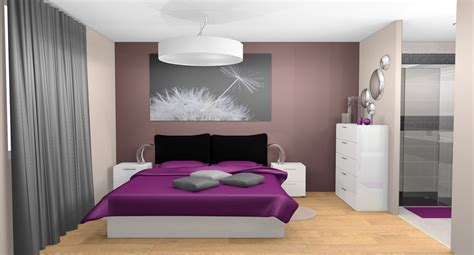 creation deco chambre chambre deco gris prune noir galerie creation idées