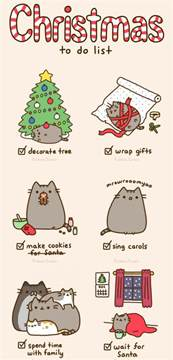 pusheen s christmas to do list my style pinterest pusheen christmas chang e 3 and pusheen