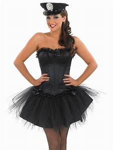 Ladies Black Sexy Cop Costume