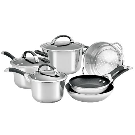 circulon symmetry stainless steel  piece cookware set fast shipping