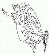 Angel Coloring Pages Guardian Angels Printable Sheets Male Colouring Rocks Adults Female Tattoo Embroidery Patterns Para Christmas Found Supernatural Adult sketch template