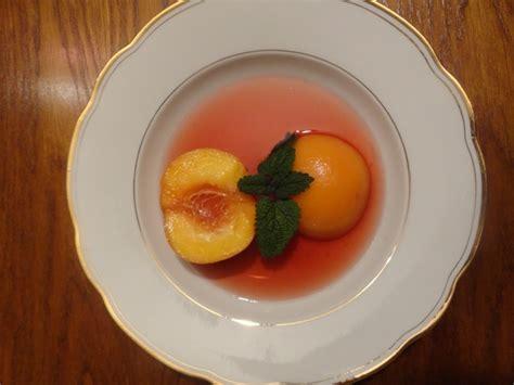 cuisine basse temperature philippe baratte soupe de pêches au vin rosé cuisson basse température