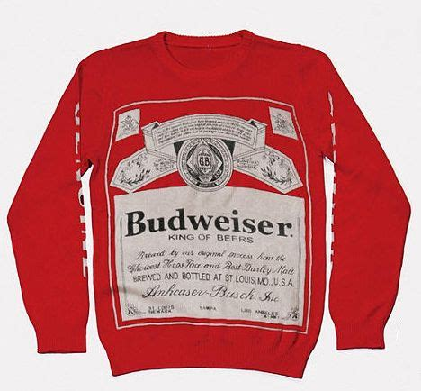 budweiser sweater 1000 images about budweiser on bottle holders