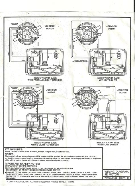 Help Oreck Motor Wireing