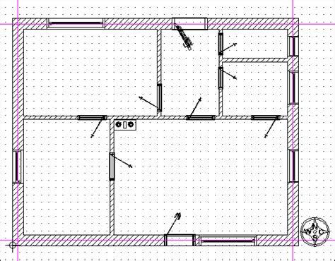 Fenster Grundriss Darstellung by Digitale Architekturkonstruktion Mit Architektur Software