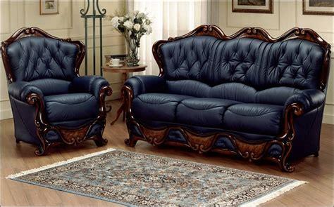 blue settee dante 3 seater armchair italian leather sofa settee
