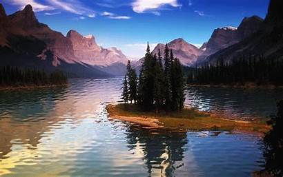 Lake Animated Nature Animation Lakes Mountain Scenery