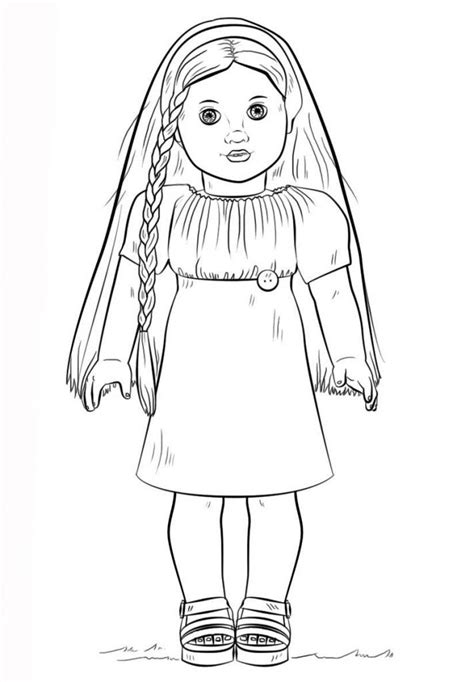 American Girl Coloring Pages American girl doll julie