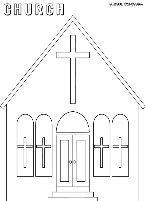 church coloring pages church coloring pages coloring pages to and print