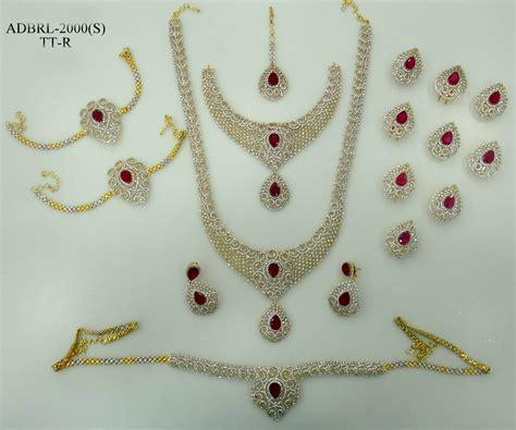 ADBRL2000TTR American Diamond Grand Full Bridal Jewellery