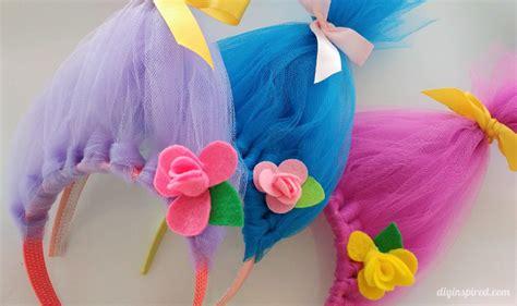 troll poppy headband template diy troll hair headbands diy inspired