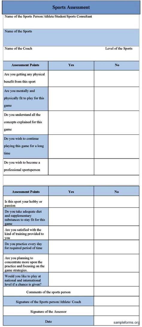 risk assessment template  sport sampletemplatess